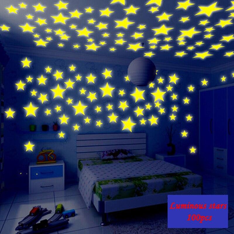 Good Chambre 3D En Ligne #12: 3 Cm 3.8 Cm 3D Fluorescent étoiles Meteor Intérieur Décoration Salon Chambre  Enfants Chambre Dortoir Mur