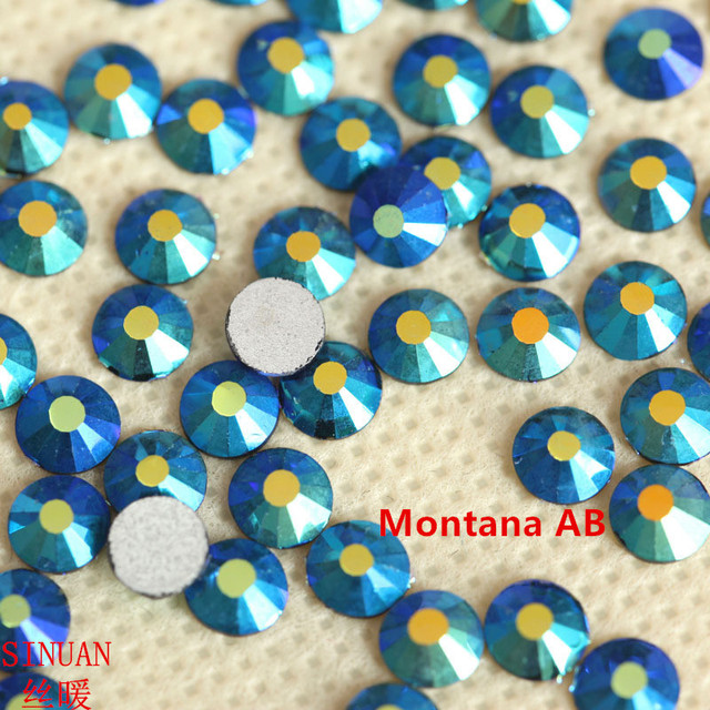 SINUAN Stones For Nails Glue-On Cabochon Montana Ab Crystal Ss20 Crystals  Stone For Crafts Round Flatback Glass Shiny Stones 66a83fbd8d09