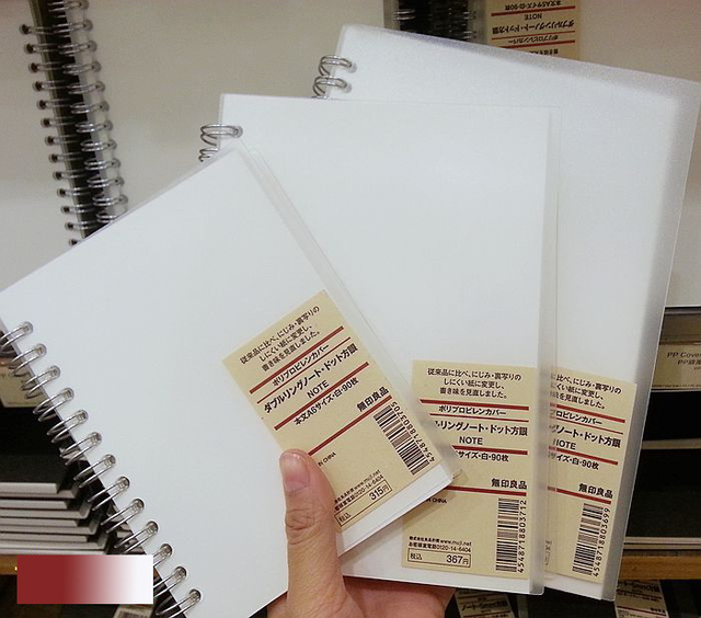 MUJI PP Cover Dot Grid Notebook A6 B6 A5 90 Sheets Japan