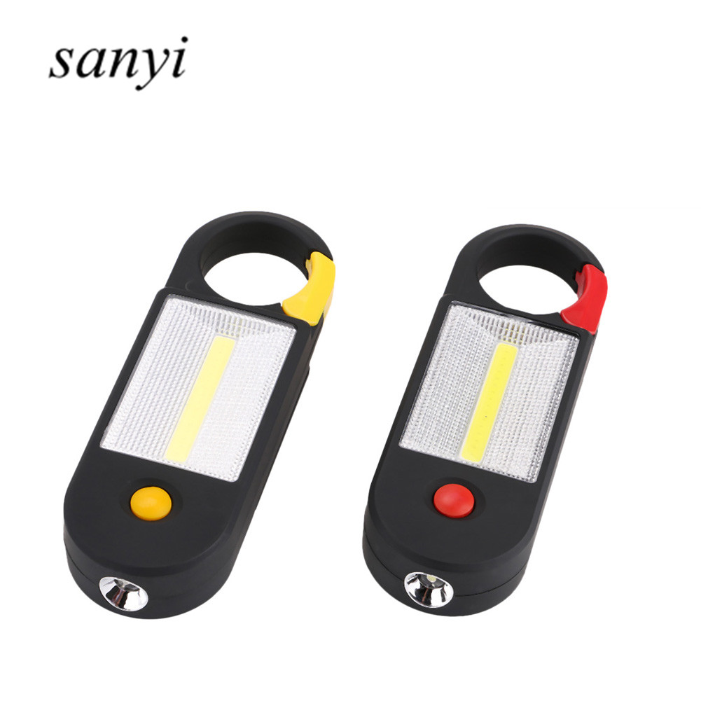 Camping Outdoor Lamp Flashlights With Built-in Magnet Hook LED+COB LED Flashlight Work Light Camping Magnetic Car Repair Light