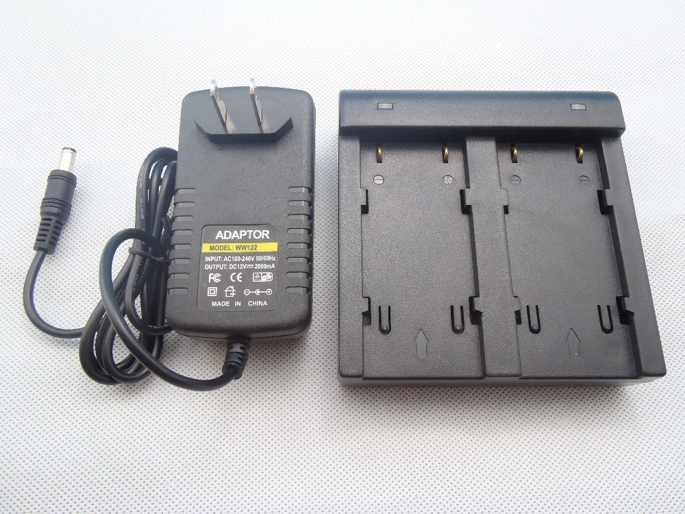 BRAND NEW Dual Charger for topcon BT65Q BT-65Q type battery total station