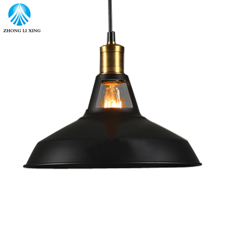 27cm Iron Lampshade E27 Retro Vintage Edison Pendant Light Lamp Shade Industrial Loft Wall Lamp Sconce Lamp Holder edison loft style vintage light industrial retro pendant lamp light e27 iron restaurant bar counter hanging chandeliers lamp