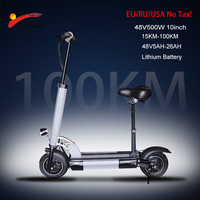 48V500W Electric Scooter 10 inch Motor Wheel 26AH Lithium Battery Adult kick e scooter No tax folding patinete electrico adulto|Electric Scooters| |  -