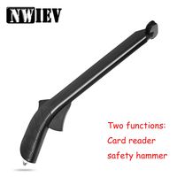 NWIEV Car Styling For Peugeot 307 407 Citroen C4 C5 Suzuki Grand Vitara Swift Card Taker Holder Tool Safety Hammer Accessories