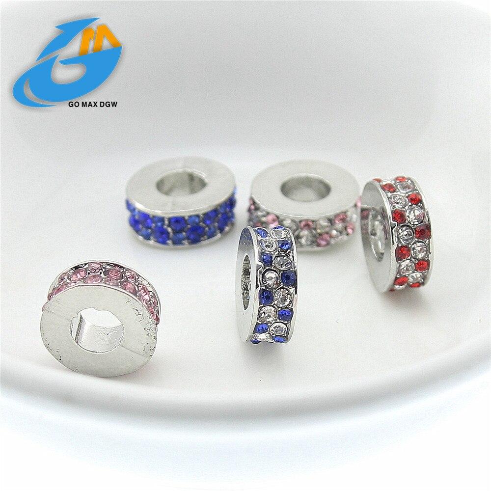7 colour Fashion Perles Jewelry Silver Plated Bead Bijoux Beads Fit Diy Pandora Charms Bracelet Wholesale diy Beads
