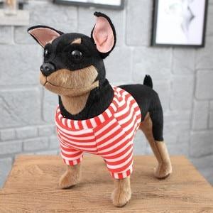 Image 5 - באיכות גבוהה סימולציה כלב בפלאש צעצוע צ יוואווה בולדוג שר פיי כלב ילדים תינוק יום הולדת הווה רך ממולא בפלאש צעצוע