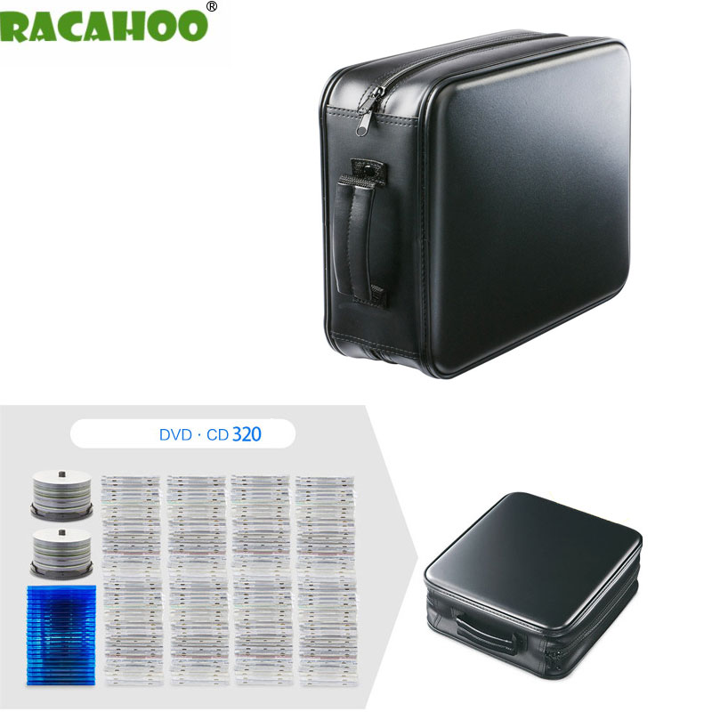 RACAHOO New Design 320 Sleeve Of Large Capacity CD Package CD / DVD Disc Storage Box PP Material Safety And High Quality Case