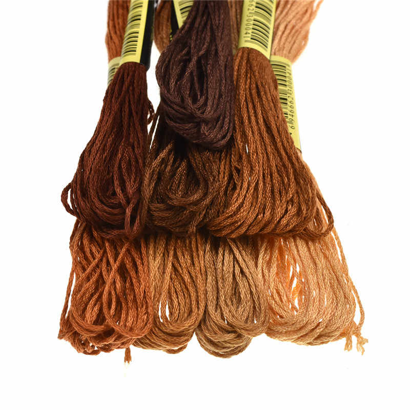 8 шт./партия, схожие цветные нитки, вышивка крестиком, нить 6 шт., швейные нитки для вышивки, мотки для рукоделия, аксессуары ручной работы