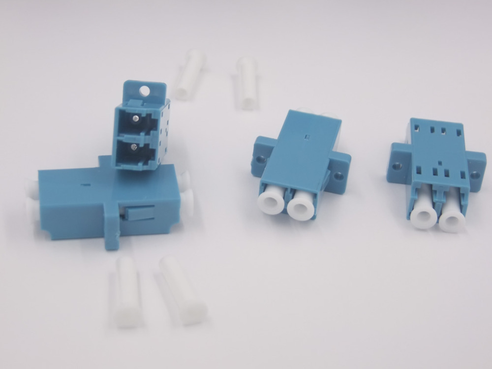 10 Dual FC Fiber Optic Adapter Connector Optical Coupler Metal Single Multi Mode