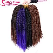 5 упаковок/комплект, 30 прядей/упаковка, Sallyhair Омбре, плетеные волосы, тонкие Сенегальские синтетические вязаные крючком косички, косички для волос