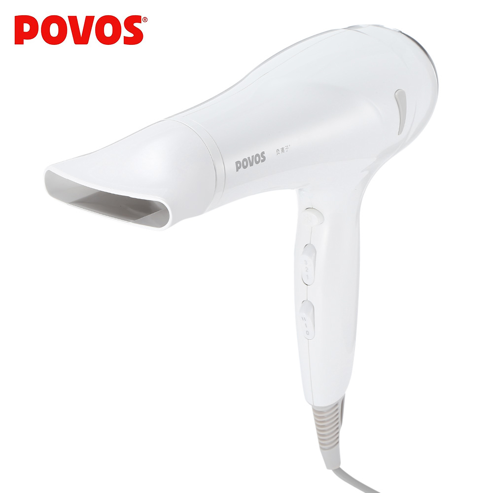 POVOS Electric 2200W Anion Hair Blow Dryer Hair Blower Styling Tools Electric Hairdryer With 2 Airflow Concentrator PH9072I povos ph9022i 3 mode electric 2200w hair dryer white golden 2 flat pin plug