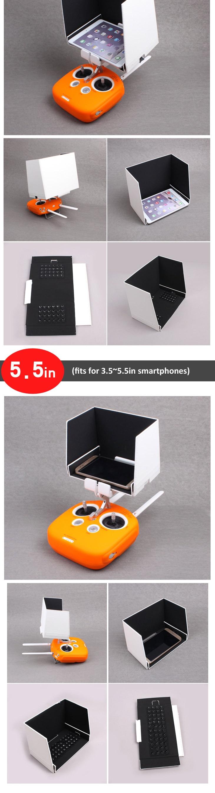 Aerial Photograph 5 5in Smartphone Sunshade 7 9in 9 7in Tablet Sun Hood for  DJI Inspire Phantom 4 4 PRO V2 0 Phantom 3 2