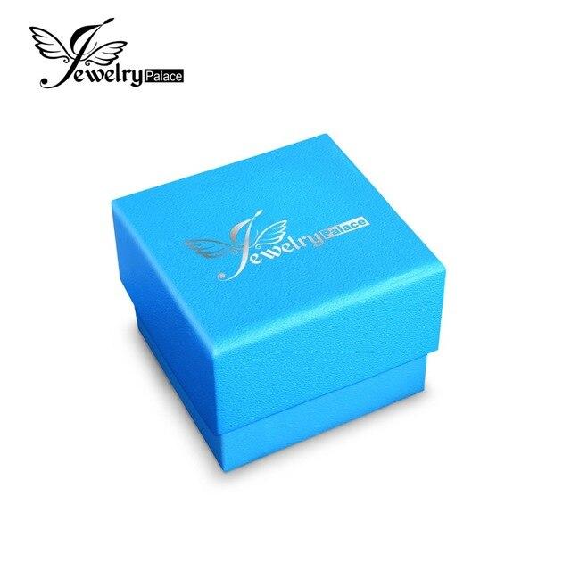 JewelryPalace Alta Qualidade Caixas de Presente Caixa do Pacote Dois Modelos Pacote Azul Colar de Pingente Pequeno Grande Caixa de Caixa De Papel Para Presente