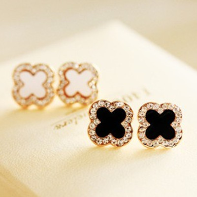 Newest Luxury Stud Earrings Fashion Clover Christmas Earrings For Women Jewelry Accessories Brincos ...