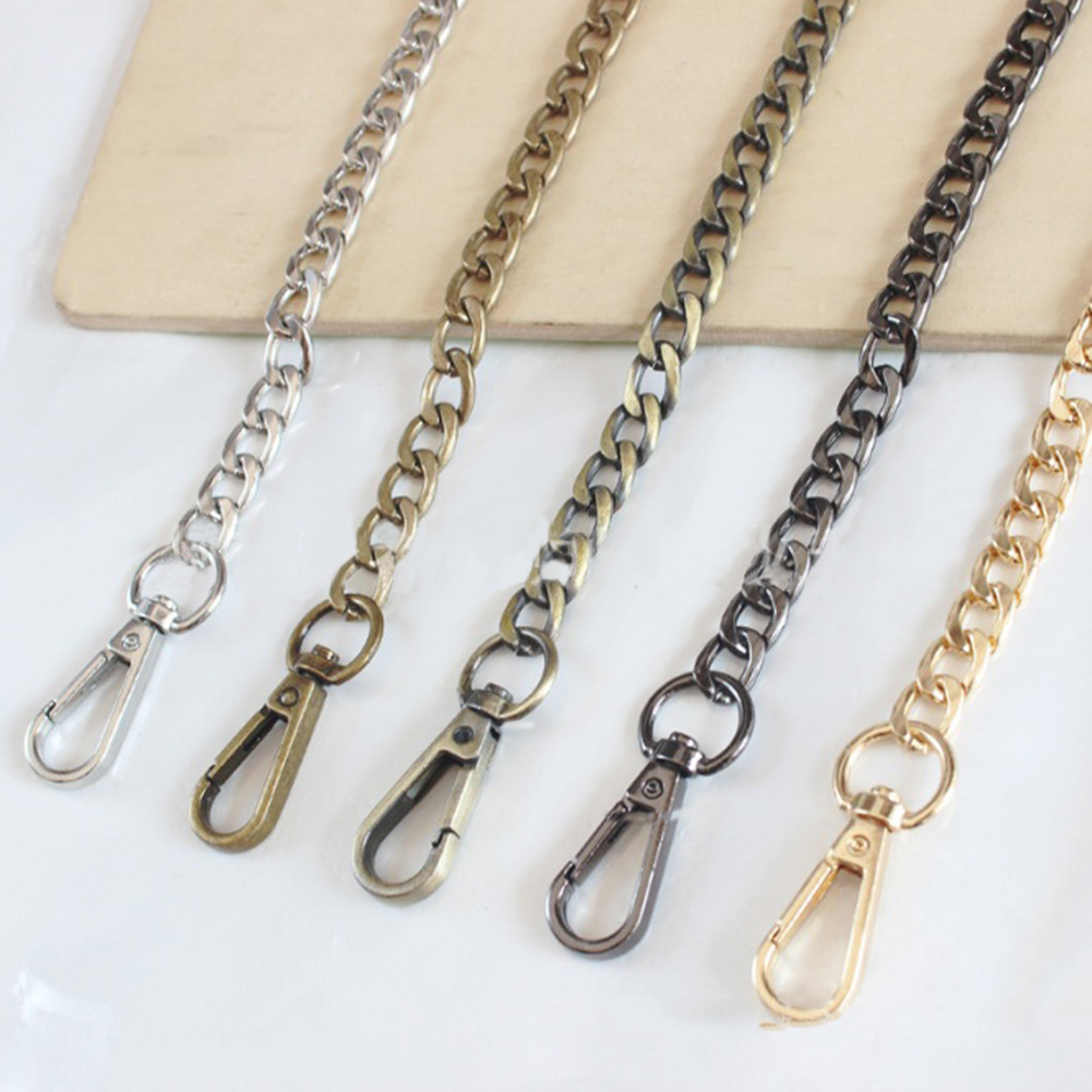 120cm Handbag Metal Chains DIY Purse Chain With Buckles Shoulder Bag Straps Silver Gold Color Crossbody Bag Fashion Bags Chain