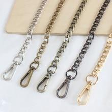 120cm Handbag Metal Chains DIY Purse Chain With Buckles Shoulder Bag Straps Silver Gold Color Crossbody Fashion Bags