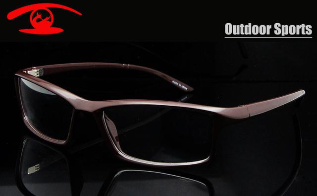 Nuevo 2015 Hombres Prescription Vidrios de Los Deportes Al Aire Libre Gafas TR90 Flexible Marco Óptico Gafas de Hombre