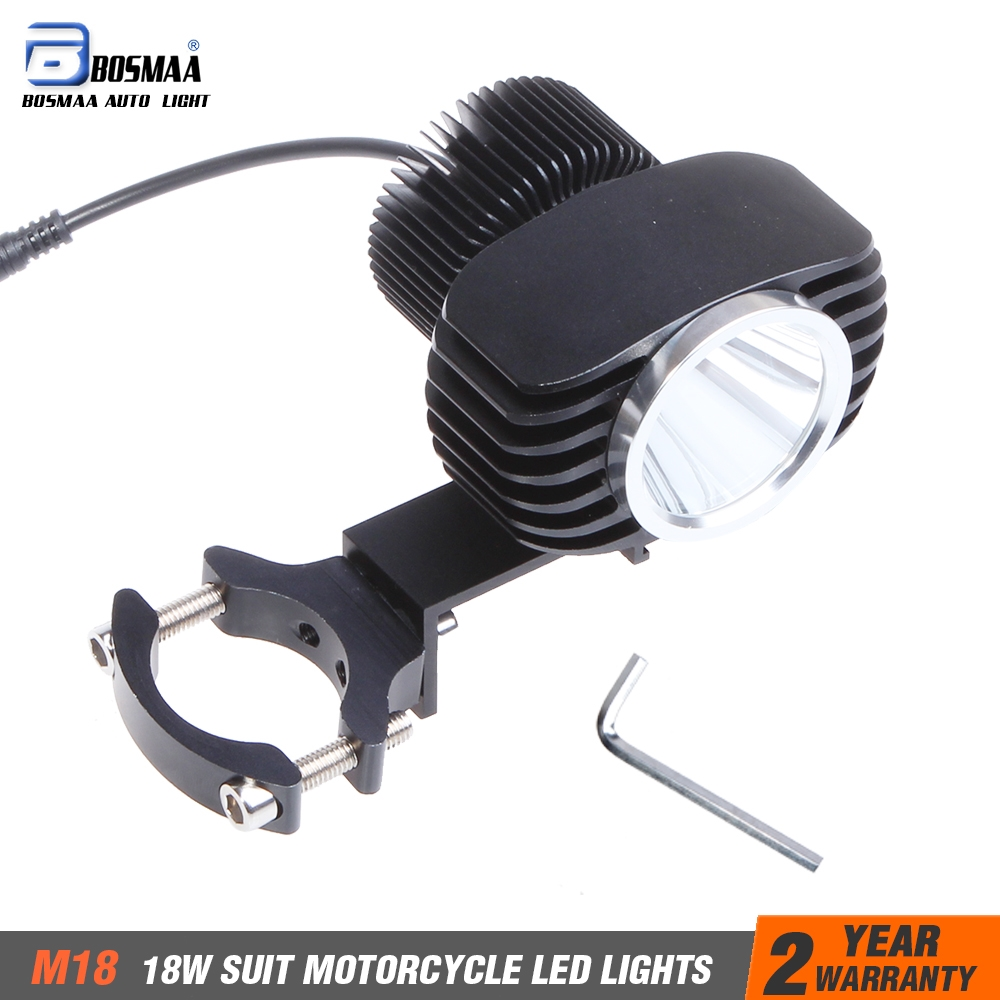18W 1pcs 2800Lm Motorcycles XHP70-2 Chips LED Work Headlight Spot Lights Motorcycle Cars Fog Lamp with Bracket Free Shpping