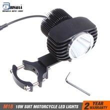 18 Вт 1 шт. 2800Lm мотоциклы XHP70-2 чипы светодиодный фары работы точечные светильники мотоцикл автомобили туман лампа с кронштейном Бесплатная доставка