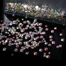 MIOBLET SS3-SS30 Crystal AB Clear Rhinestones 3D Flat Back Non HotFix 229695d78b9e