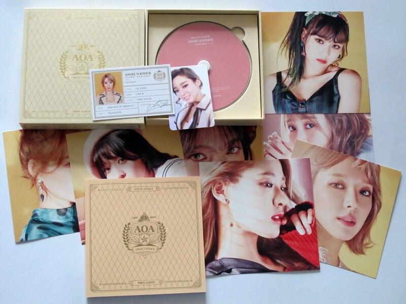 AOA autographié signé 2016 le premier album ANGEL'S hit CD + photobook + affiche signée officielle coréenne 012017