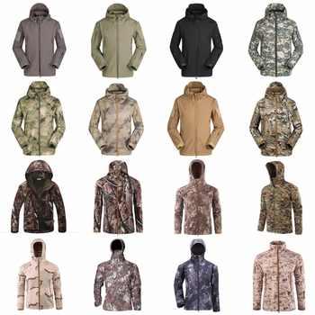 Military Tactical Men Jacket Shark Skin Soft Shell Waterproof Windproof Windbreaker Jacket Wear Resisting Keep Warm Coat winter