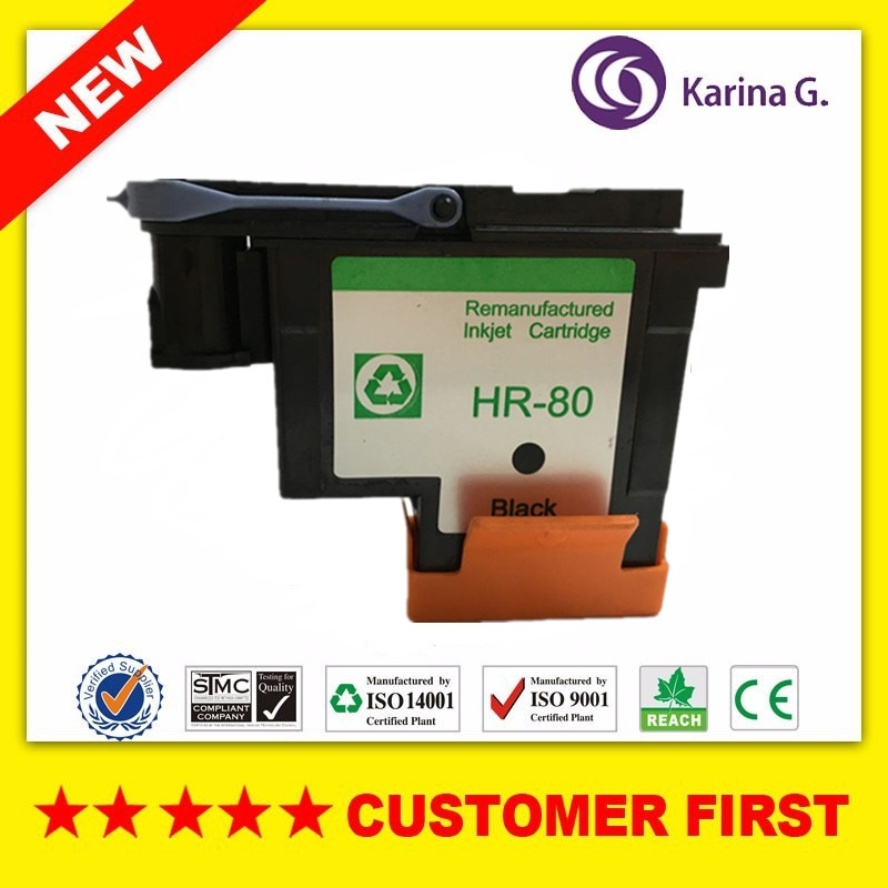 1PK Black printhead for HP80 for Designjet 1000 1050c 1055cm inkjet printer For HP 80 Ink Cartridge Head 3 pc lot printhead cover units for hp81 hp83 print head protector for hp designjet 5000 5500 1000 1050 1055 printer