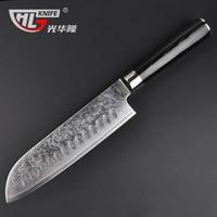 Damascus Santou knives for kitchen micarta handle Damascus knife kitchen for vegetable japanese Stands for knives