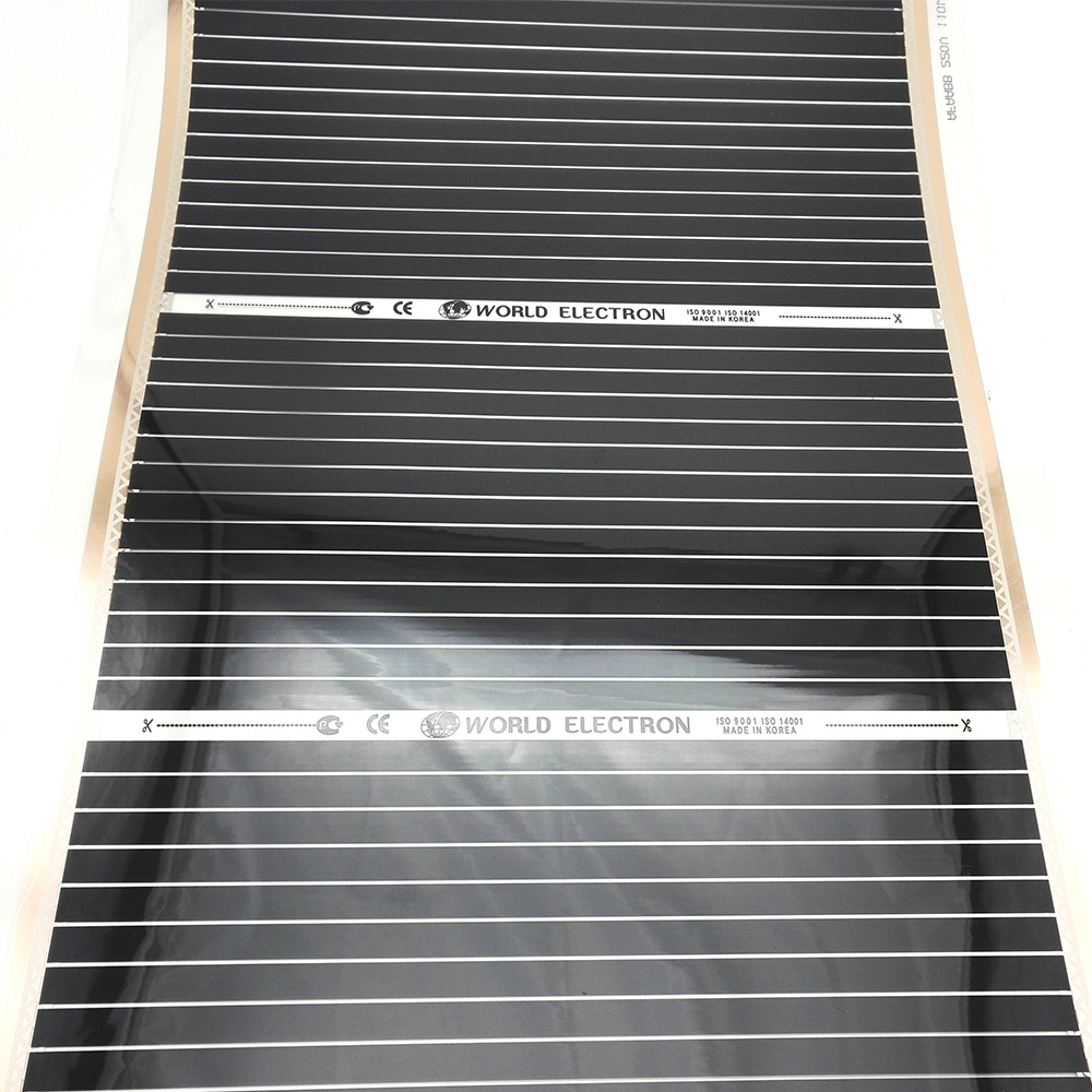 MINCO HEAT 220V 1 Square Meter Floor Heating Electric Infrared Film with Thermostat 50cmX2m Warm Floor Mat Kits