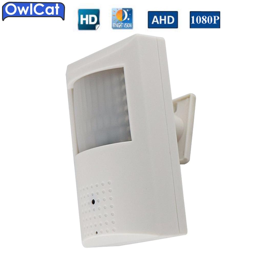 OwlCat Full HD 1080P PIR Shaped AHD 2MP Video CCTV Security AHD Camera Indoor CCTV 3.6mm Lens Hide Camera