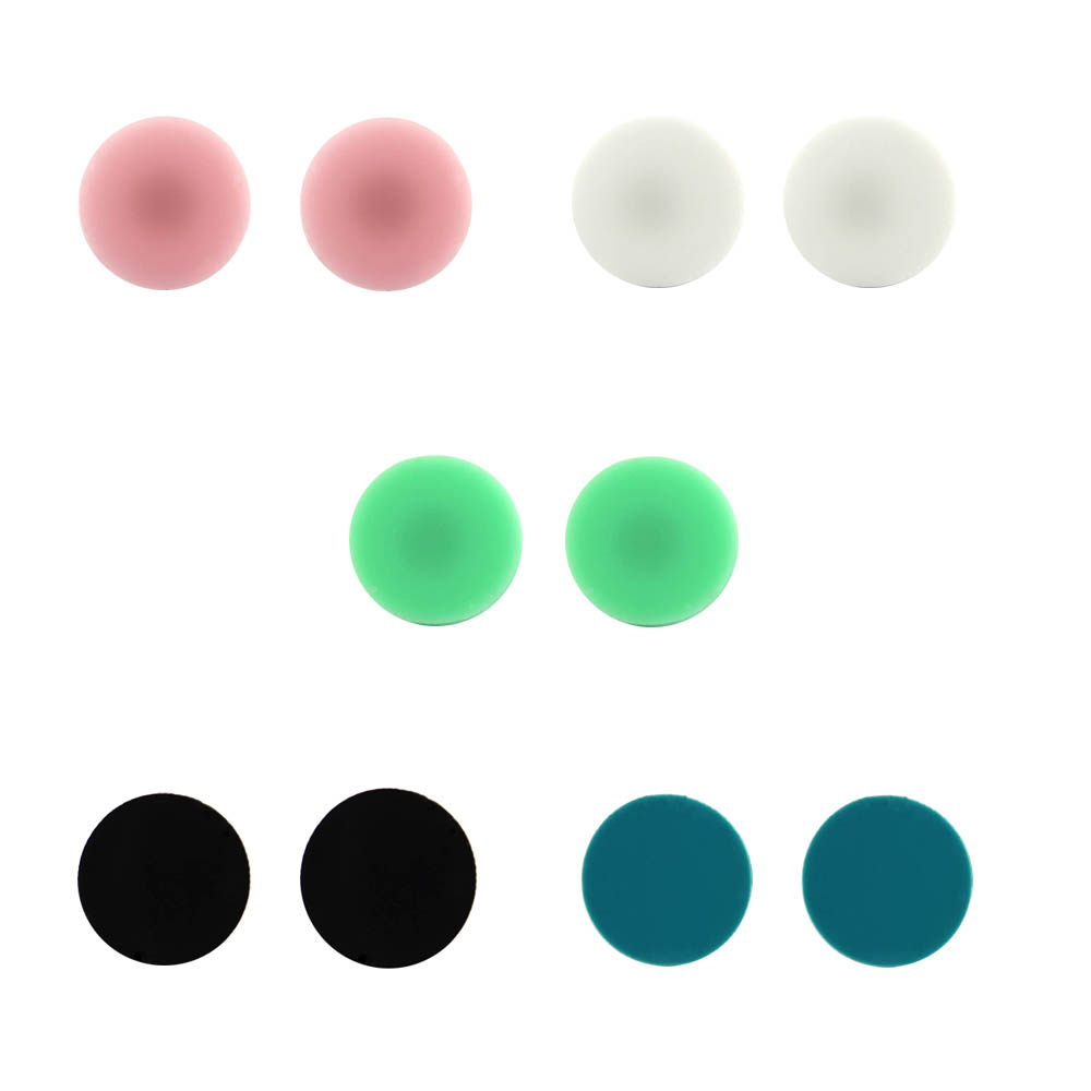 Monogram Jewelry 16mm Post Earrings Mint Acrylic Clover Disc Blank Stud For Women Round In From