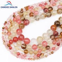 c06ab5c64746 AAA Piedra Natural Cuentas sandía cristal 4 6 8 10 12mm cuarzo bead DIY  encanto pulsera collar Cuentas para la fabricación de la.