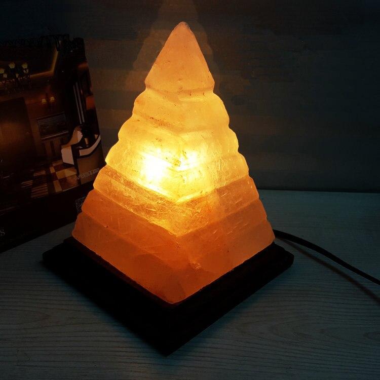 Salt Lamp Ion Generator : dimmable 2.3kg 5.1lb Pyramid himalayan salt lamp, negative ion natural himalayas salt night ...