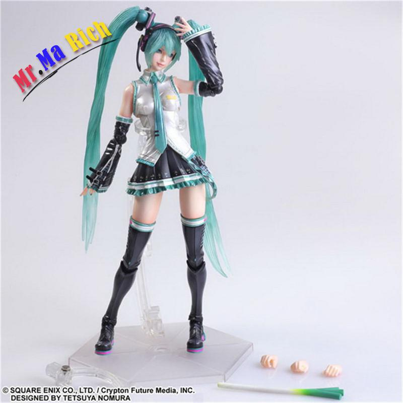 Play Arts Variant Miku Hatsune Miku Pvc Action Figure Collectible Brinquedos Kids Toys Juguetes 25cm Free Shipping game figure 10cm darius the hand of noxus pvc action figure kids model toys collectible games cartoon juguetes brinquedos hot