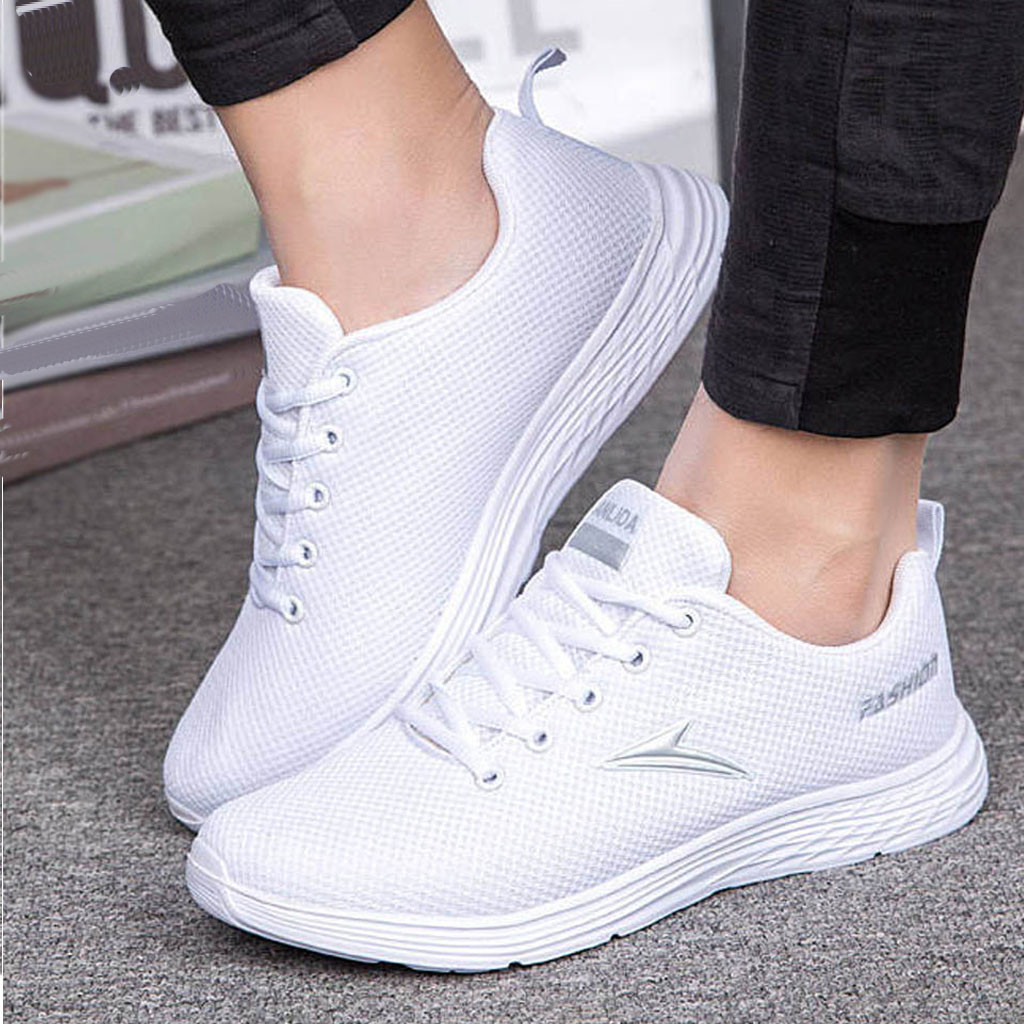 2019 New Men Casual Shoes Lac-up Men Shoes Lightweight Comfortable Breathable Walking Sneakers(China)