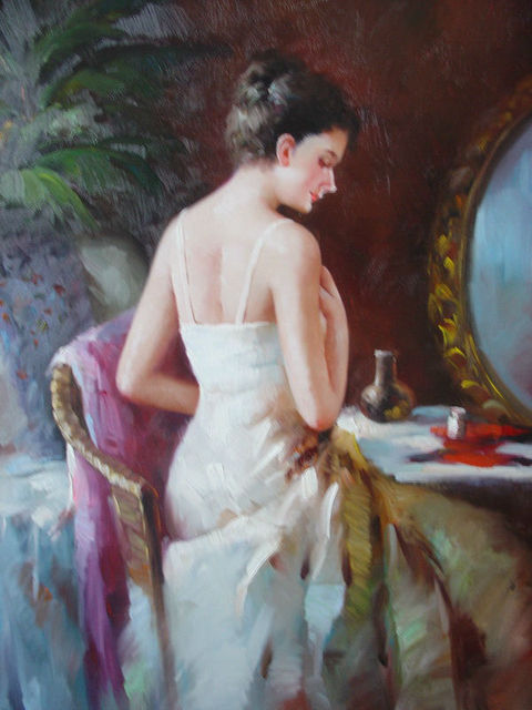 Decorative Wall Art Oil Paintings The Theme Of A Woman Figure 100 Handmade