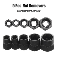 5Pcs 10-16mm Threading כלי פגום בורג אגוז Remover מברג הרבעה חולץ שקע שבור בורג ערכת ההסרה שחור ראש אגוזים