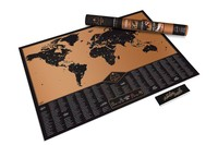 1 cái Phiêu Lưu Scratch Off Map Thiết Kế Mới Đi Du Lịch Danh Sách Đen Scratch World Map Poster để Trang Trí Tường Nhà