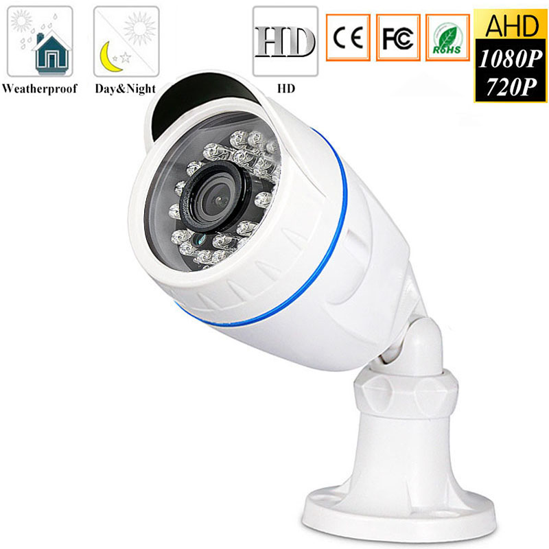 Surveillance Cameras 720P 1080P AHD Camera Outdoor Waterproof Bullet Cameras Day & Night Surveillance HD 3.6mm Lens IR CUT