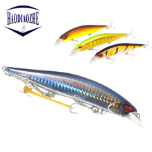 Купить с кэшбэком HAODIAOZHE Quality Minnows Professional Hard Bait 13.5cm 19.2g Floating Minnow Fishing Wobbler Bass Pike Artificial Lures YU498
