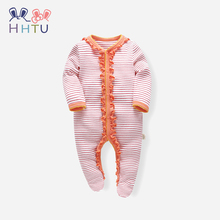 HHTU 2019 Baby Newborn Rompers Autumn Winter Cotton Spriped New Style Infant Jumpsuit Girls Boys Clothes Cute Warm Clothing