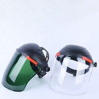 Schutz Maske Elektrische Schweißen Helm Gesicht Schild Staubdicht Gas Maske Outdoor Sicherheit Arbeit Köpfe Schweißen Gläser Werkzeug auf