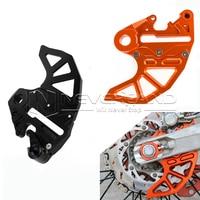 Orange Black Aluminum Motorcycle CNC Billet Rear Brake Disc Guard Fits For KTM 125 530 SX