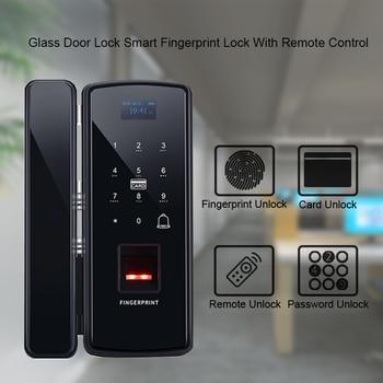 Eseye Digital Glass Door Lock Smart Eletronic Lock Fingerprint Lock Biometric Door Lock Safety Anti-Thife For Office Home