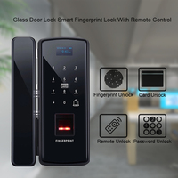 Eseye Digital Glass Door Lock Smart Eletronic Lock Fingerprint Lock Biometric Door Lock Safety Anti Thife For Office Home