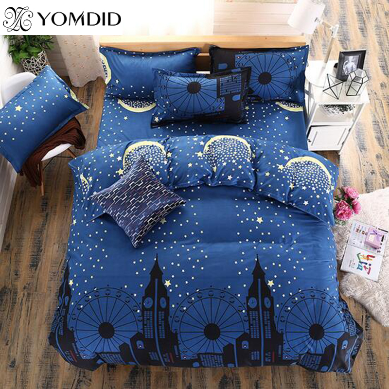 new style plaid bedding set reactive printing bed linens twin full queen for home hotel - Plaid Comforter