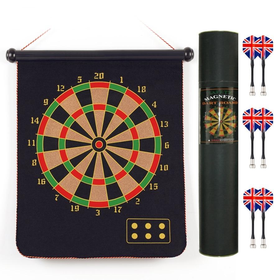 Dart-Set 15 & 17 Zoll Zoll beidseitig magnetisches Dartboard für Kinder und Erwachsene