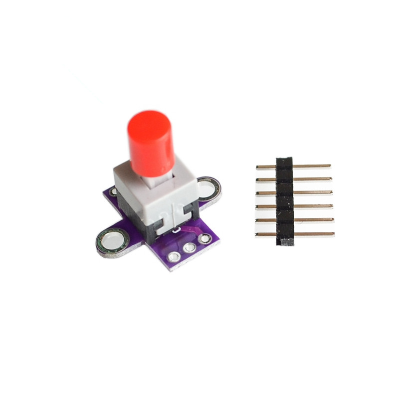 MCU-010 With Lock Button Self-locking Switch Lock Switch Double Row Switch Spare Parts