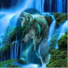 Diamond Paint Embroidery Wolf Mosaic 5Ddiy Cross Stitch Painting Sticker Decorative Painting.L09