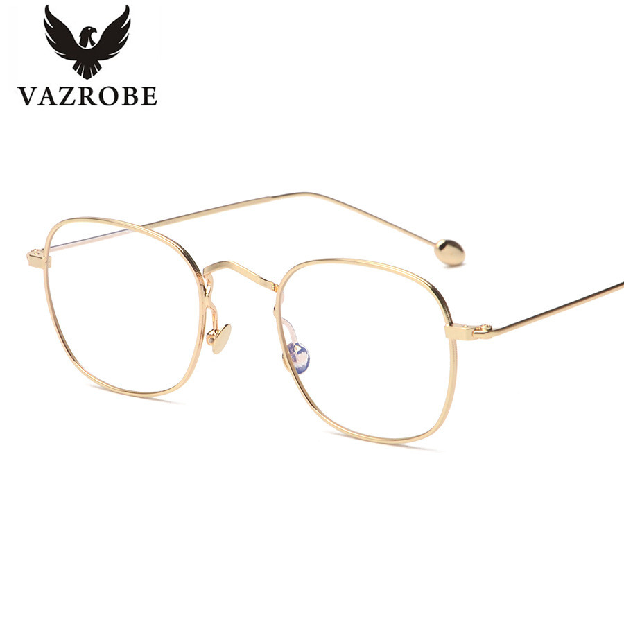 vazrobe customized lenses small square metal eyeglasses frame for men spectacles prescription glasses frames male eyeglass